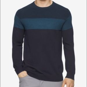 Calvin Klein Waffle Knit ColorBlocked Sweater Roma